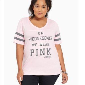 💞 Torrid Pink Mean Girls Football Tee
